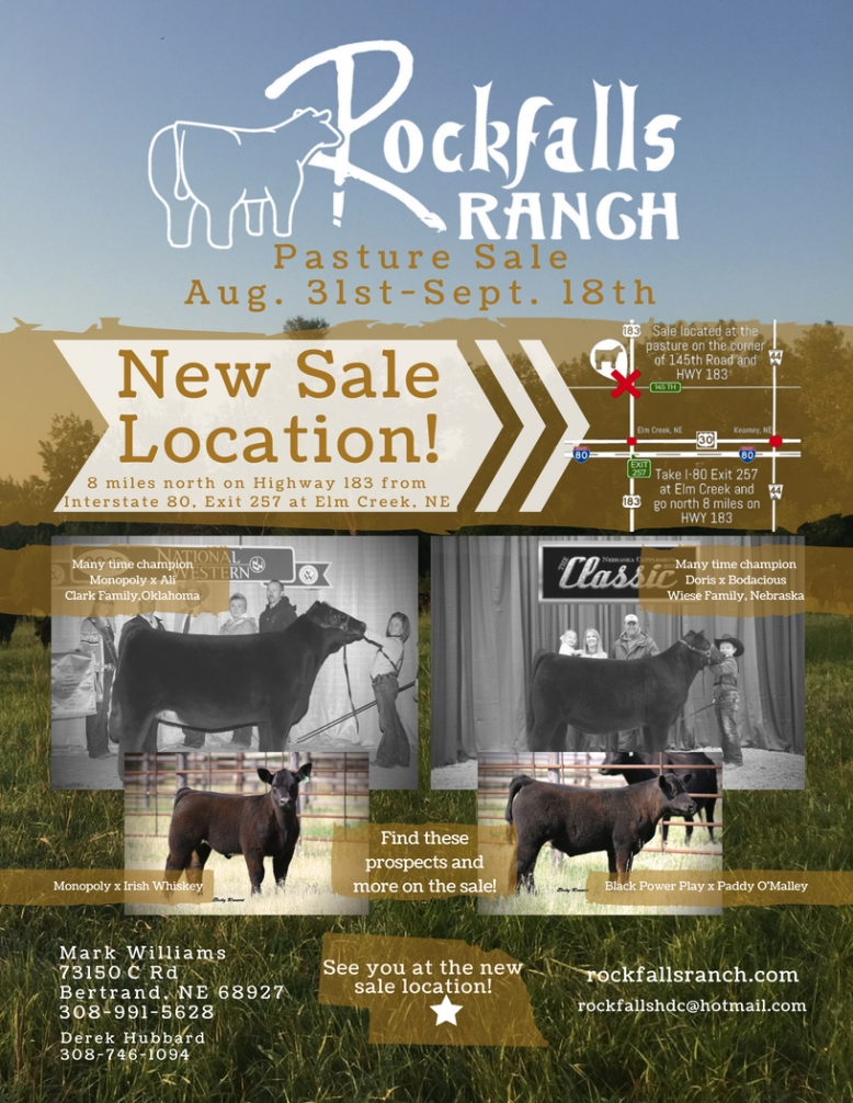 Rockfalls Ranch Pasture Sale 2018